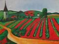 Felder im Sommer