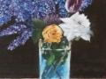 Kristallvase mit Flieder